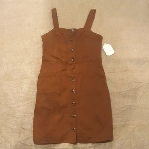 Size 12 BNWT Brown cotton stretch dress